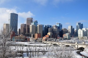 Calgary downtown winter