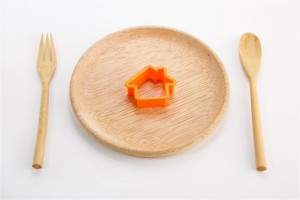 house on a plate